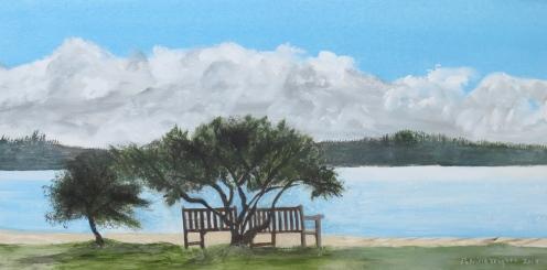 Dundarave on a Sunny Day, arrylic