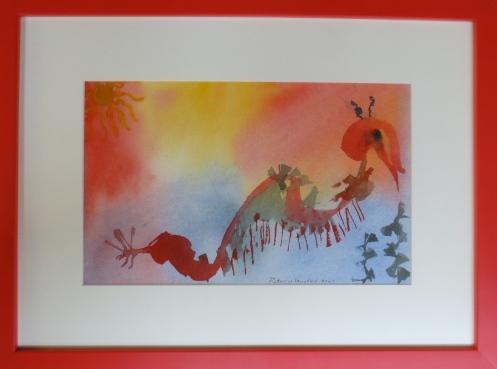 Shrimp, watercolor