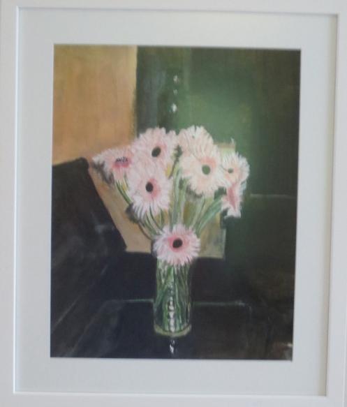 "Josh's Daisies, watercolor, 14'x 24"","